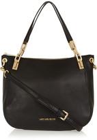 MICHAEL Michael Kors Brooke Large Textured-leather Shoulder Bag - Black