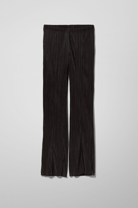 Weekday Cruz Pleated Trousers - Black