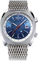 Alpina Men's Swiss Automatic Aviator Watch with Stainless Steel Strap