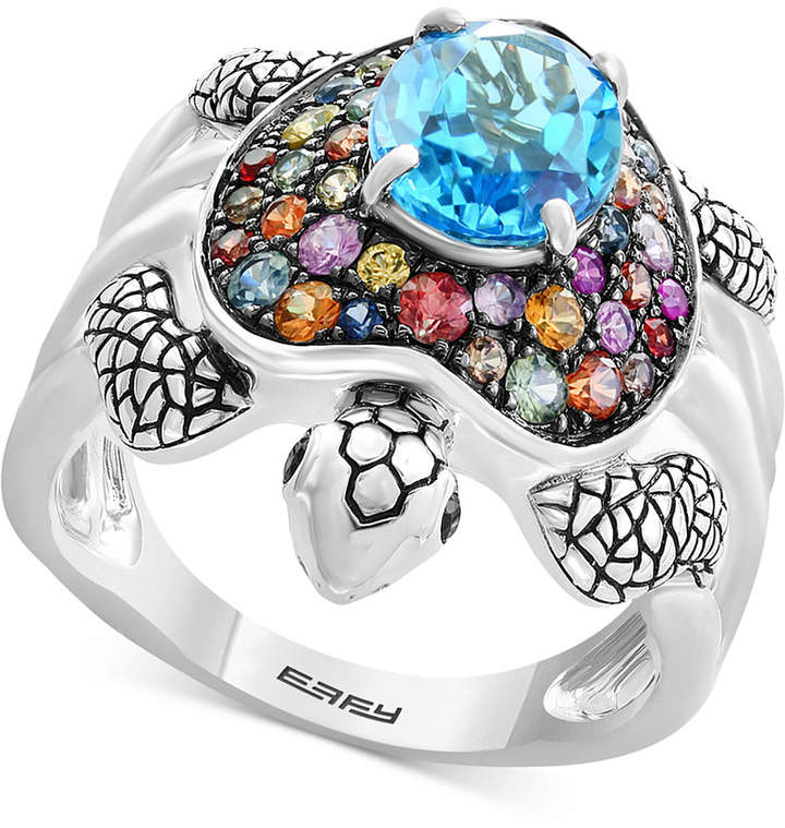 Effy Balissima by Multi-Gemstone Turtle Ring (3-3/8 ct. t.w.) in Sterling Silver