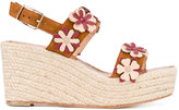 Castaner floral embroidered sandals - women - Leather/rubber - 37