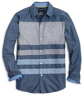 Nautica Boys' Long Sleeve Chambray Shirt - Sizes S-XL