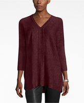 Charter Club Petite Cashmere Textured V-Neck Sweater, Only at Macy's