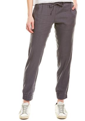 Monrow Linen-Blend Jogger Pant