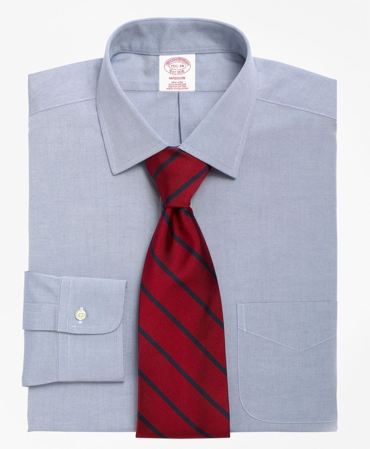 Brooks Brothers Madison Classic-Fit Dress Shirt, Non-Iron Spread Collar