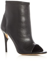 Jerome C. Rousseau Clothilde Peep Toe High Heel Booties