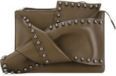 No.21 studded clutch - women - Leather - One Size