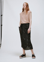 Josh Goot Military Butterfly Column Skirt