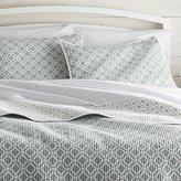 Crate & Barrel Raj Reversible Light Blue Quilts and Pillow Shams