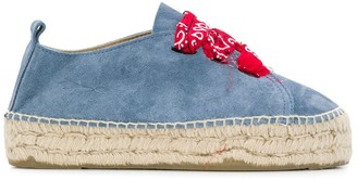 Manebi Round Toe Denim Espadrilles
