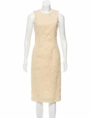 Michael Kors Silk-Blend Sleeveless Dress Tan