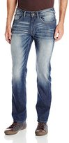 Buffalo David Bitton Men's Six Slim Straight Leg Jean In Washed and Contrasted