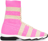 Fendi striped sneakers - women - Leather/Polyamide/rubber - 38.5