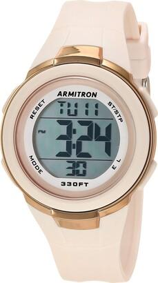 Armitron Sport Women's Digital Blush Pink Resin Strap Watch 45/7126PBH