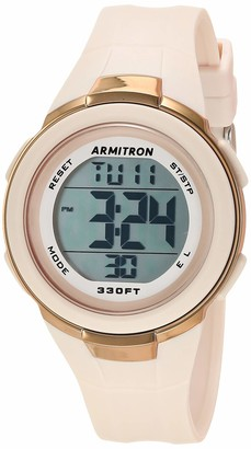 Armitron Sport Women's Digital Powder Blue Resin Strap Watch 45/7126PBL