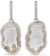 Kimberly McDonald - 18-karat White Gold, Geode And Diamond Earrings - one size