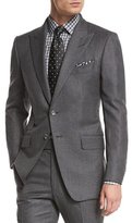 Tom Ford O'Connor Base Mini-Textured Two-Piece Suit, Gray