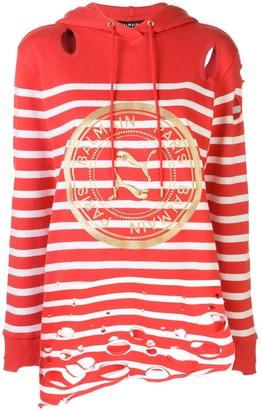 Puma x Balmain striped hoodie