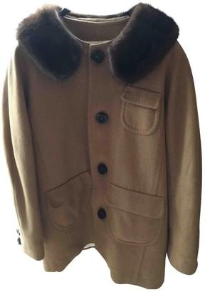 DSQUARED2 Camel Wool Coat for Women