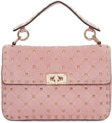 Valentino Garavani Valentino Pink Medium Rockstud Spike Matelassé Chain Bag