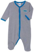 Petit Bateau Milleraies Grey Sleepsuit