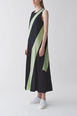 Cos Organic Cotton Striped Panel Dress