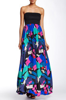 Shoshanna Midnight Caramel Silk Gown