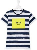 MSGM striped T-shirt - kids - Cotton - 14 yrs