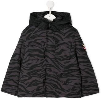 Zadig & Voltaire Kids animal-print hooded jacket