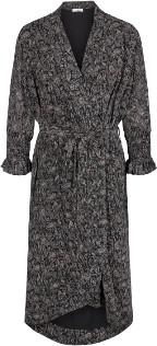 Co' Couture - Black Graphic Detailed Kimono Wrap Dress - xsmall