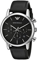 Emporio Armani Men's AR1733 Dress Black Leather Watch
