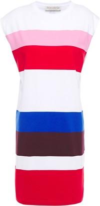 Être Cécile Printed Striped Cotton-jersey Mini Dress