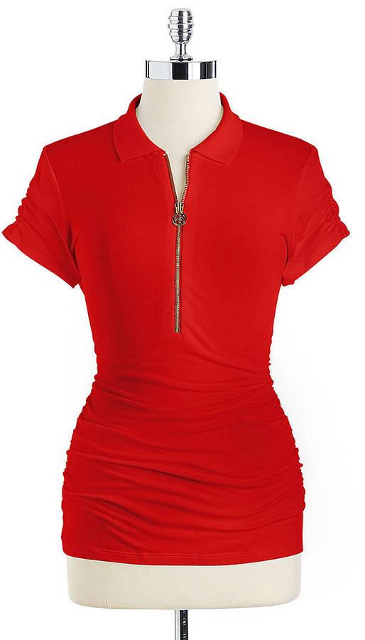 MICHAEL Michael Kors Hal-Zip Polo Shirt