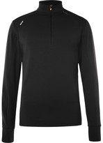 Soar Running - Stretch-jersey Mid-layer Top - Black