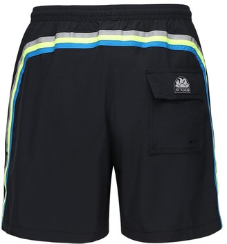 Sundek Logo Stretch Tech Swim Shorts
