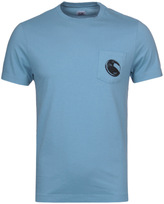 Cp Company Sky Blue Watchviewer Printed Short Sleeve T-shirt