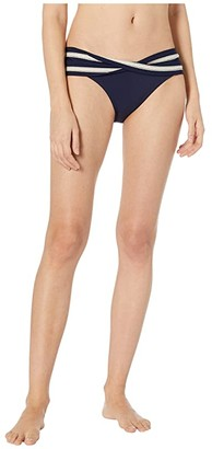 Robin Piccone Abi Twist Bottoms (Indigo/Ecru) Women's Swimwear