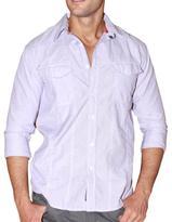 191 Unlimited Men's Lavender Stripe Button-front Shirt