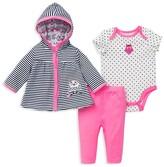 Offspring Infant Girls' Owls Jacket, Bodysuit & Pants Set - Sizes 3-12 Months