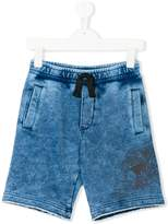 Diesel eagle print shorts