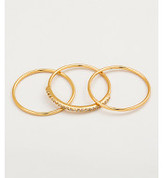 Gorjana Shimmer Bar Ring Set