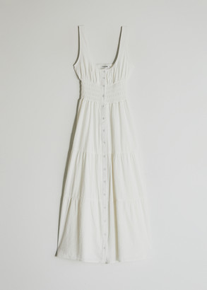 Farrow Women's Brie Tiered Dress in Off White, Size Small   100% Cotton