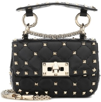 Valentino Rockstud Spike Mini leather crossbody bag