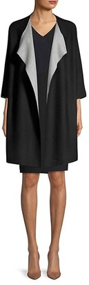 Donna Karan Open-Front Cardigan