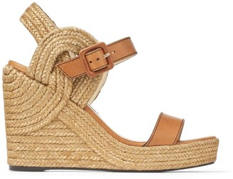Jimmy Choo Delphi 100 Nappa Leather Wedge Sandals