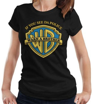 Cloud City 7 If You See Da Police Warn A Brother Women's T-Shirt Black