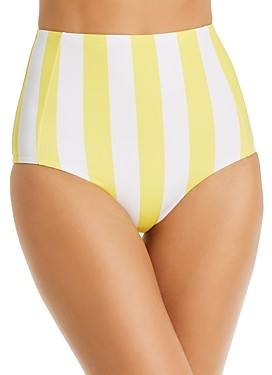 VERDELIMON Banes Striped High-Waist Bikini Bottom