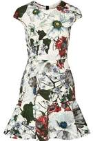 Erdem Darlina Floral-Print Neoprene Mini Dress