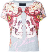 Philipp Plein Double Face T-shirt - women - Cotton/Crystal - S