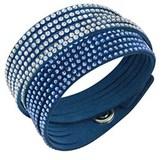 Swarovski Crystal Alcantara Slake Blue Bracelet.